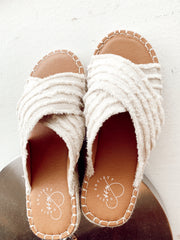 Cleo Beachy Crossover Sandals