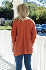 Casual Ribbed Knit Top