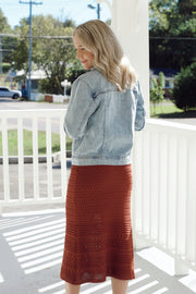 Crochet Lined Midi Skirt
