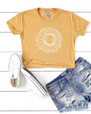 """Sunflower Girl"" Cropped Tee-Preorder"