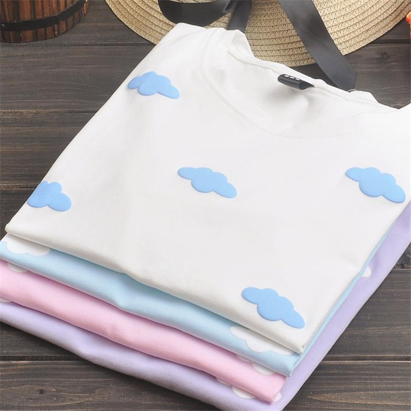 60677b62 ... aesthetic fluffy clouds tee shirt ...