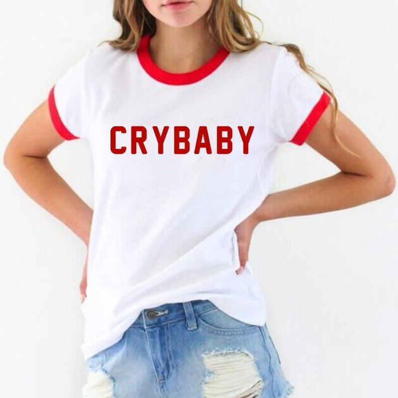 aesthetic cry baby tee shirt