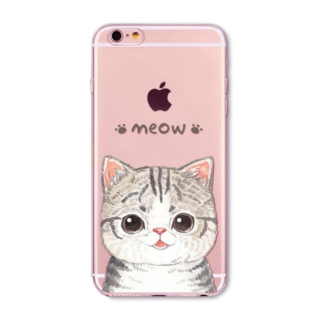 Cute Cat Print Iphone Cases
