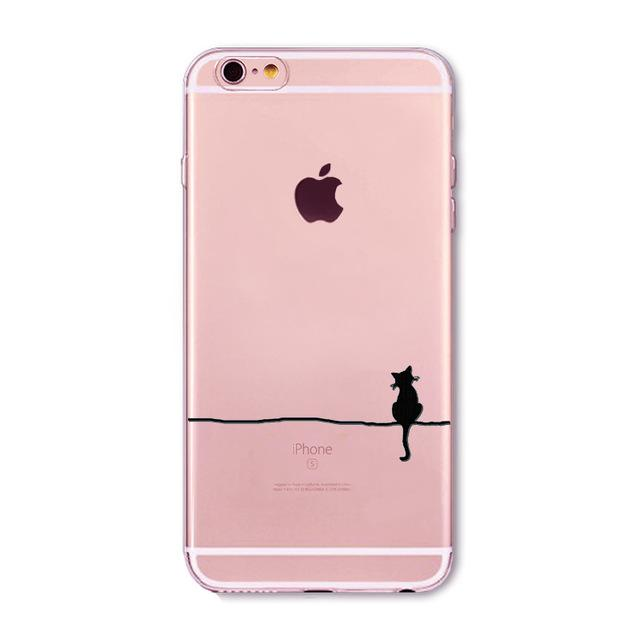 Pink Cat Printed Iphone Cases