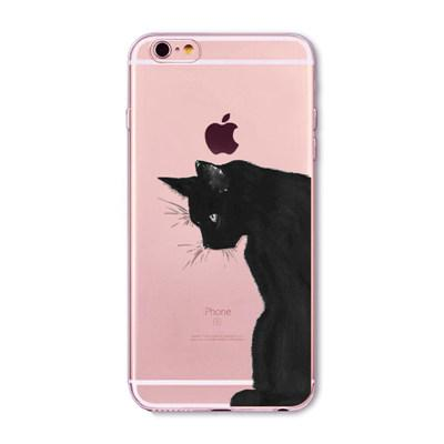 Black Cat Printed Iphone Cases