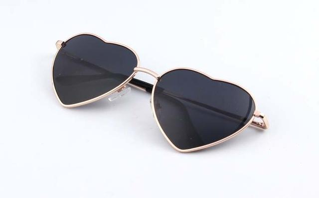 Heart Pattern Aesthetic Sunglasses