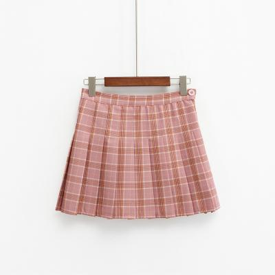 AESTHETIC HIGH WAIST PLAID PLEATED SKIRTS