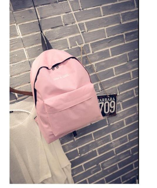 I AM A GIRL Pink Backpacks