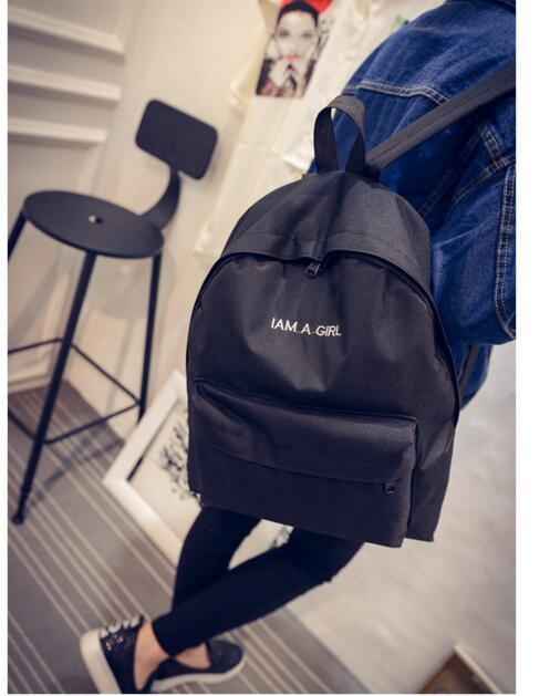 I AM A GIRL Aesthetic Backpacks