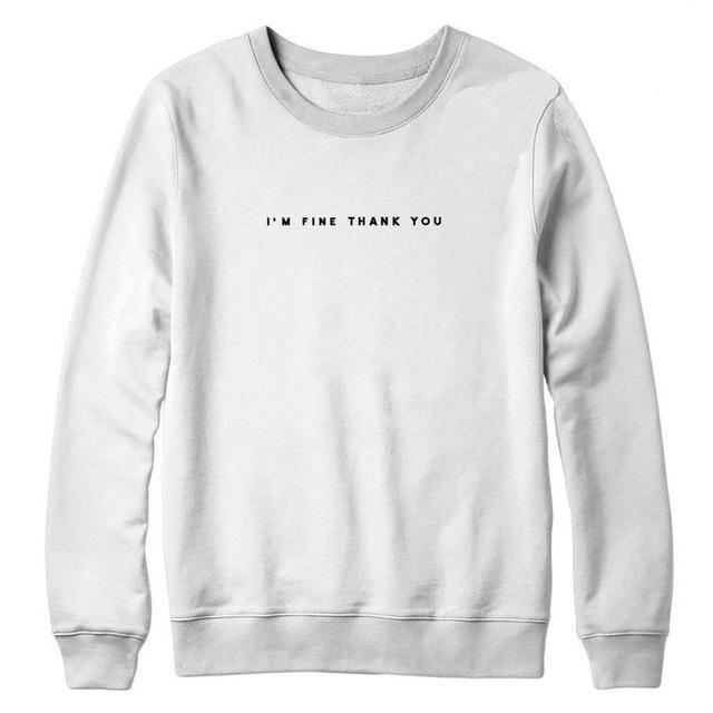 aesthetic I'm fine thank you sweatshirt