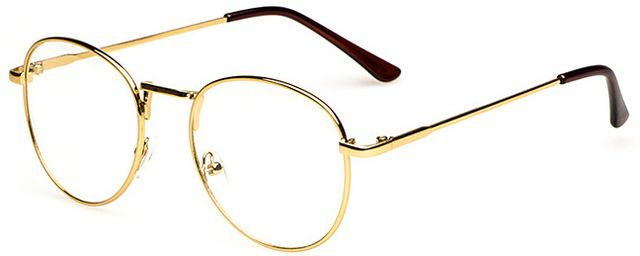 Golden Large Optical Computer Eye Glasses
