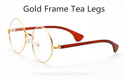 Large Round Retro Metal Golden Frame Sun Glasses
