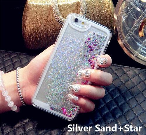 Silver Liquid Glitter IPhone Cases
