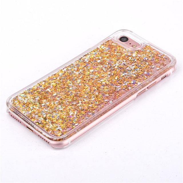 Golden Liquid Glitter IPhone Cases