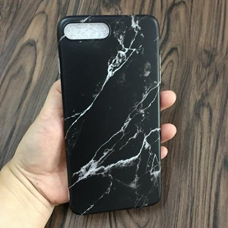 Marble Aesthetic IPhone Black Color