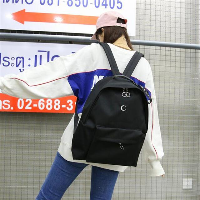 Moon Printed Aesthetic Backpack