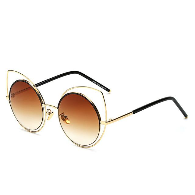 Aesthetic-Oversized Cat-Eye Sunglasses