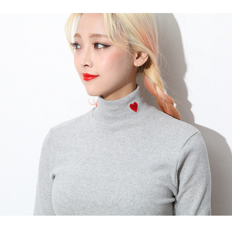HEART COLLAR LONG SLEEVE SHIRT