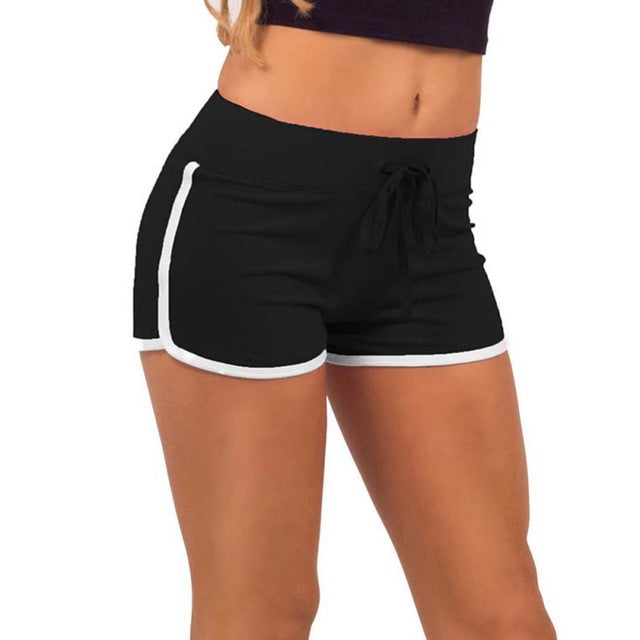 AESTHETIC ELASTIC WAIST YOGA DRAWSTRING SHORTS