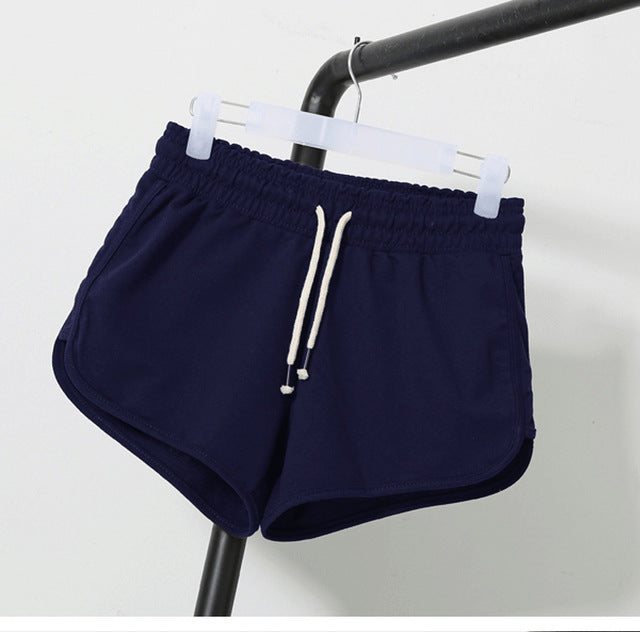 AESTHETIC STREET FASHION ELASTIC WAIST SHORTS