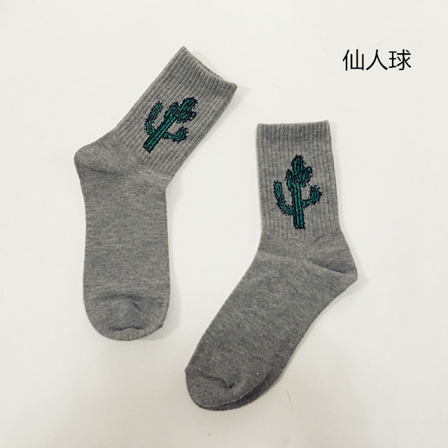 aesthetic Embroidered Cartoon Sock