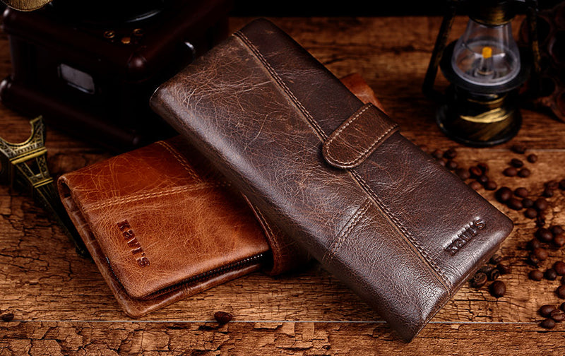 GENUINE LEATHER CLUTCH WALLET