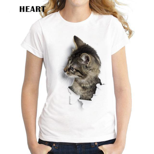 NAUGHTY 3D CATS T-SHIRT
