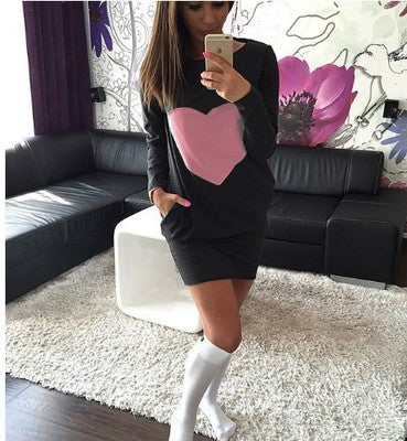 LONG SLEEVE SEXY MINI DRESS TOP