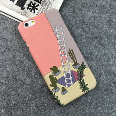 Aesthetic Geometry Ladder Iphone Cases
