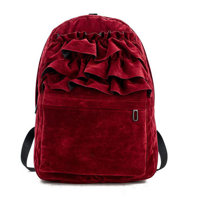 Lolita Flouncing Lace Students Backpack