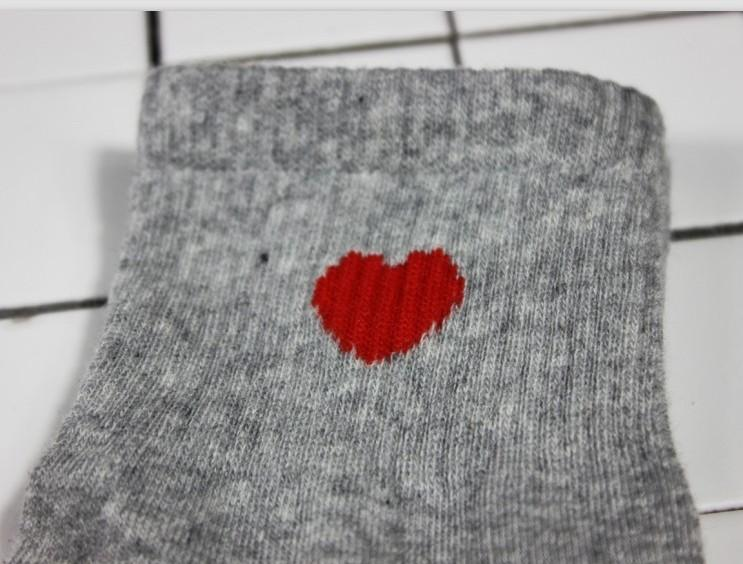 Aesthetic Red Heart Cute College Fashion Socks
