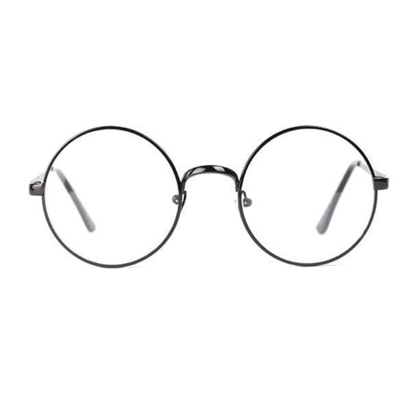 Aesthetic Retro Round Metal Frame Glasses