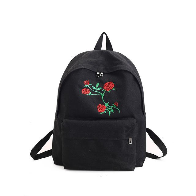 Rose Embroidery Back Packs