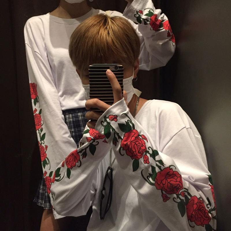 AESTHETIC ROSE LONG SLEEVED T-SHIRT TOP