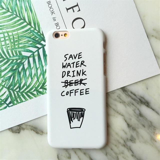 Save Water Drink Coffee iPhone Cases