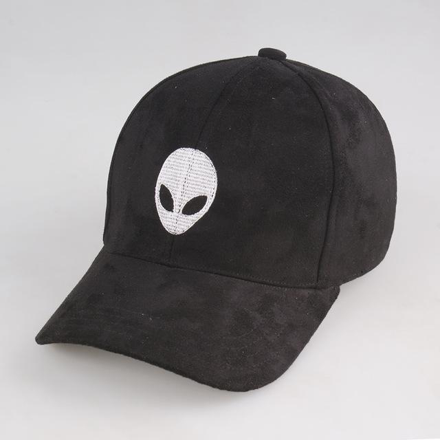 Aesthetic-Smart Aliens Hat-Black-