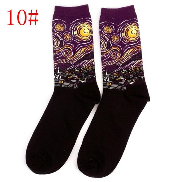 Aesthetic Vintage Modern Art Painting Socks