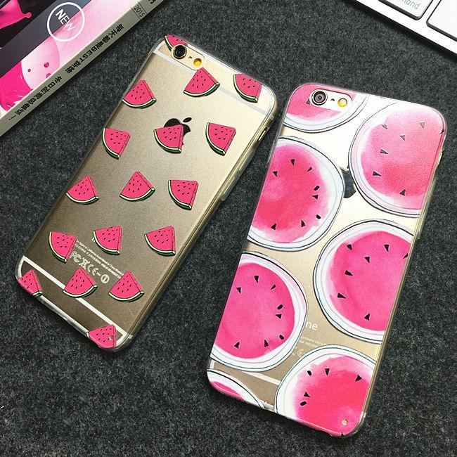 Watermelon Transparent iPhone Cases