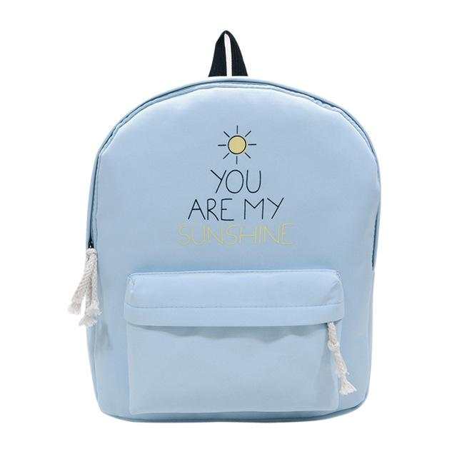 You Are My Sunshine Blue Backpack