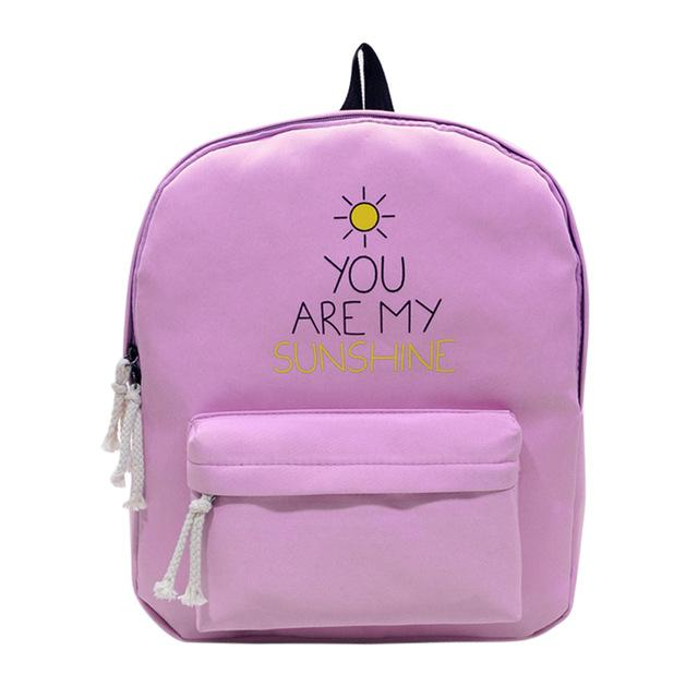 You Are My Sunshine Pink Backpack