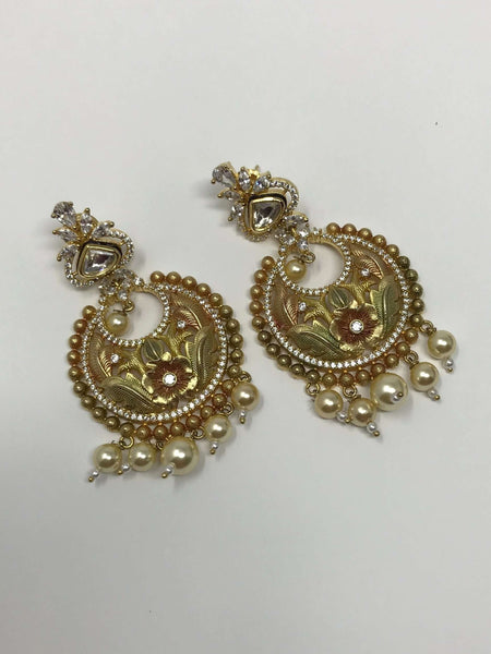 Indian Earrings - Kundan