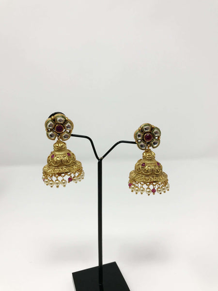 Kundan Jewelry Set Antique Gold