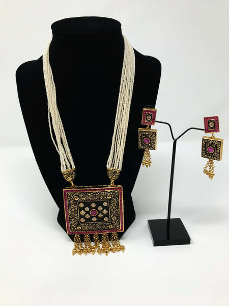 Black Polish Jewelry Set