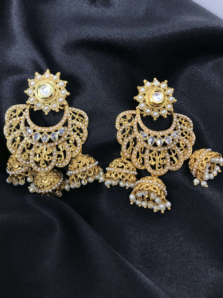Chandbali Jhumki Earrings
