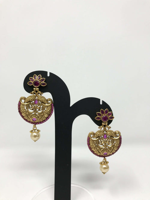 Chandbali Temple Earrings