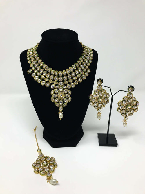 Kundan Semi Bridal Set