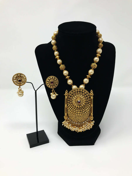 Large Pendant Beaded Mala Set