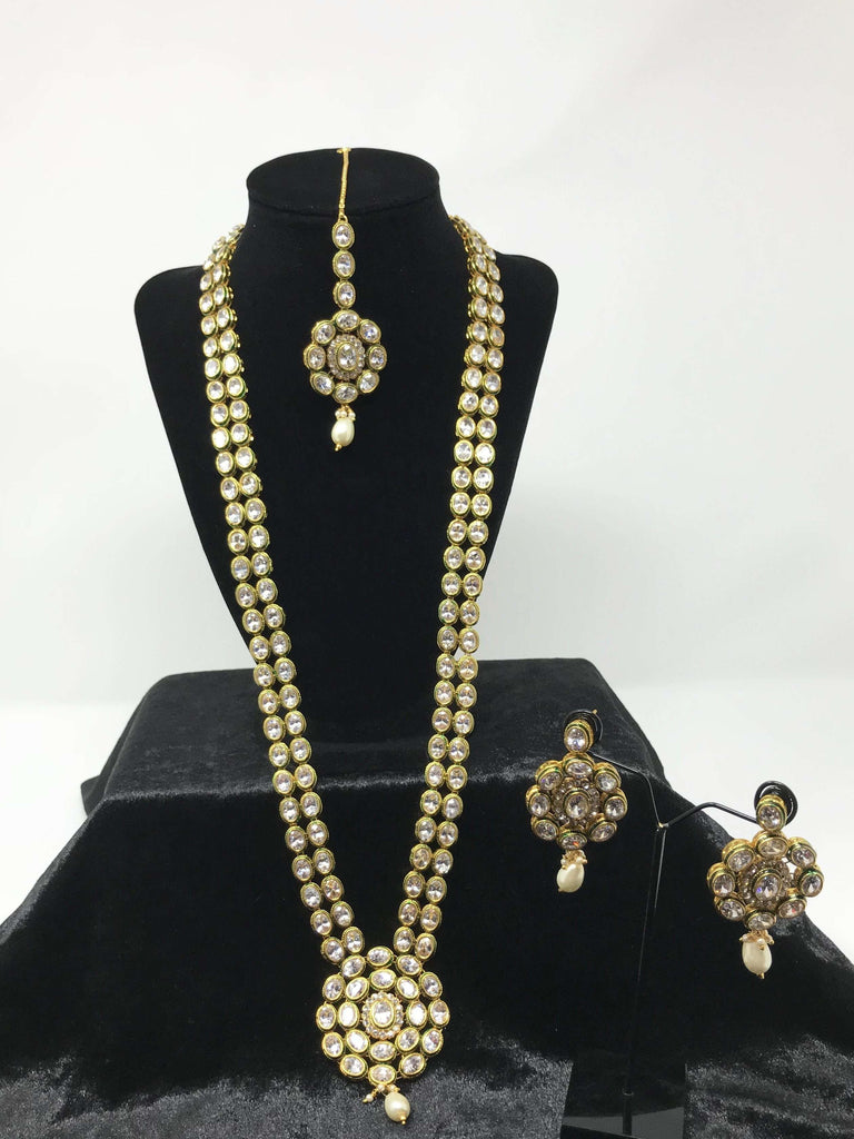 5bccb63d1c9ba Long Kundan Necklace Set
