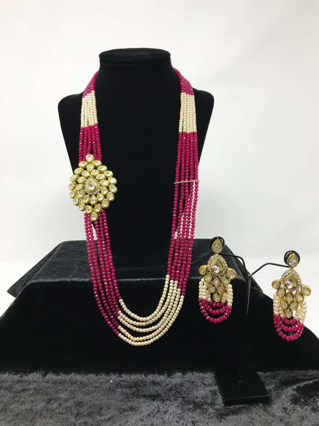 Kundan Small Pendant Set