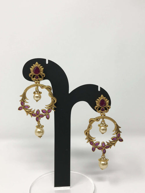 Temple Chandbali Earrings